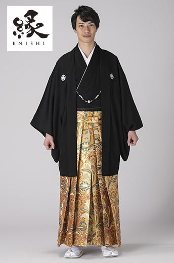 縁紋付袴セット-K-4